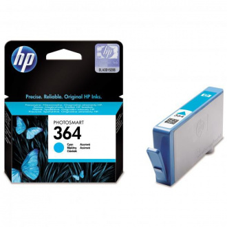 HP 364 (CB318EE) - cartridge, cyan (azurová)