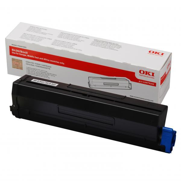 OKI originální toner 43979202, black, 7000str., OKI B430, B440, MB460, MB470, MB480