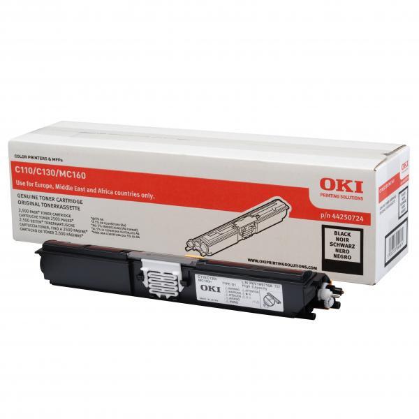 OKI originální toner 44250724, black, 2500str., OKI C110, 130n, MC160