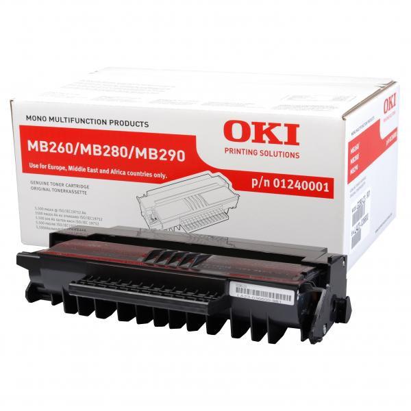 OKI originální toner 1240001, black, 5500str., OKI MB200, MB260, MB280, MB290