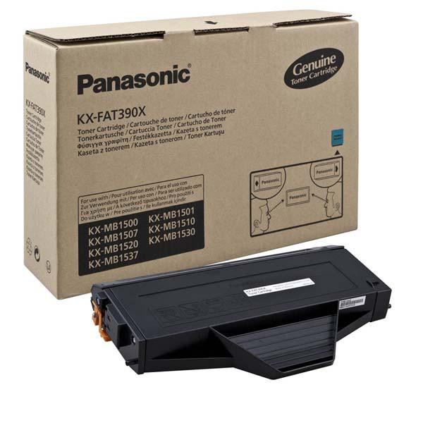 Panasonic originální toner KX-FAT390X, black, 1500str., Panasonic KX-MB1500,1507,1520,1530,1550