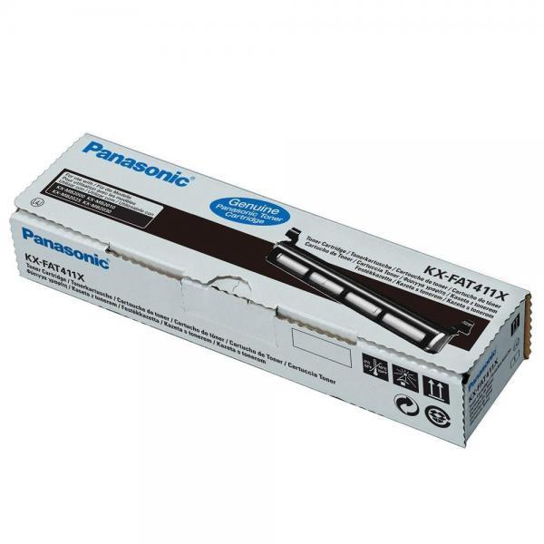 Panasonic originální toner KX-FAT411X, black, 2000str., Panasonic KX-MB2000, 2010, 2025, 2030, 2061