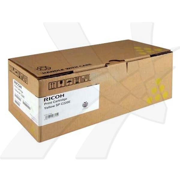 Ricoh originální toner 406768, 406055, 406147, 406106, 407643, yellow, 2000str., Ricoh Aficio SPC220N, SPC220S, SPC221N, SPC221SF