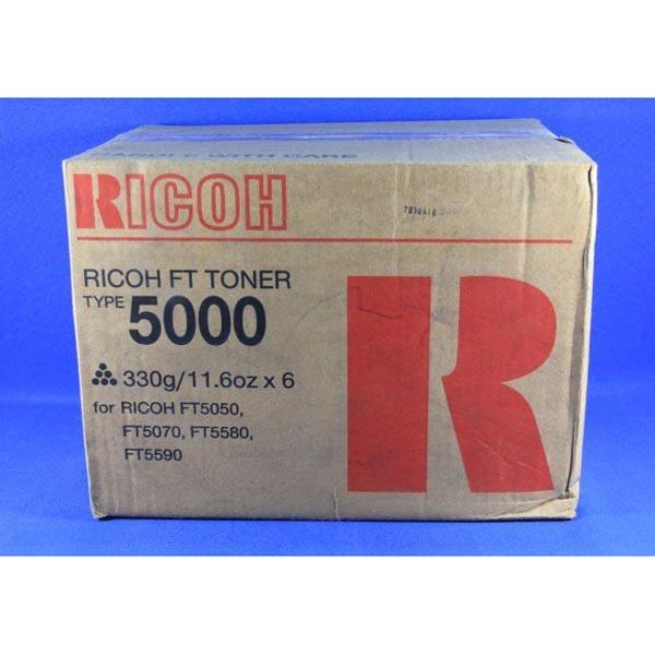 Ricoh originální toner 887622, black, Typ 5000, Ricoh FT 5520, 5540, 5550, 5560, 5570, 5580