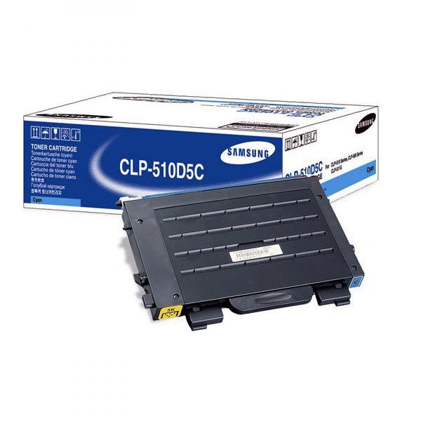 Samsung originální toner CLP-510D5C, cyan, 5000str., Samsung CLP-510, N