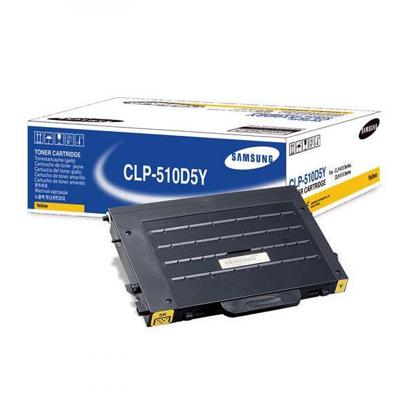 Samsung originální toner CLP-510D5Y, yellow, 5000str., Samsung CLP-510, N