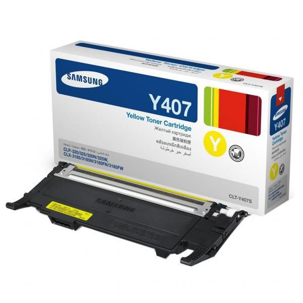 Samsung originální toner CLT-Y4072S, yellow, 1000str., Samsung CLP-320, 325, CLX-3185