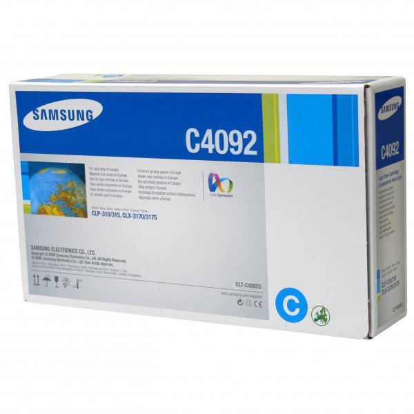 Samsung originální toner CLT-C4092S, cyan, 1000str., Samsung CLP-310, N, CLP-315, CLX-3170FN, CLX-3175N, FN, FW