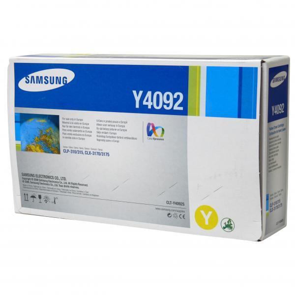 Samsung originální toner CLT-Y4092S, yellow, 1000str., Samsung CLP-310, N, CLP-315, CLX-3170FN, CLX-3175N, FN, FW