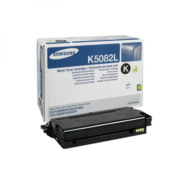 Samsung originální toner CLT-K5082L, black, 5000str., high capacity, Samsung CLP 620ND, 670N, 670ND, CLX-6220FX, 6250FX, 6250F