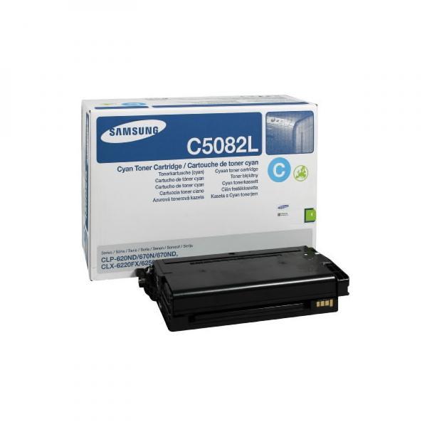 Samsung originální toner CLT-C5082L, cyan, 4000str., high capacity, Samsung CLP 620ND, 670N, 670ND, CLX-6220FX, 6250FX, 6250F