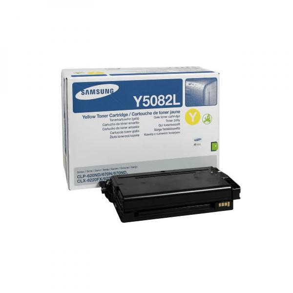 Samsung originální toner CLT-Y5082L, yellow, 4000str., high capacity, Samsung CLP 620ND, 670N, 670ND, CLX-6220FX, 6250FX, 6250F