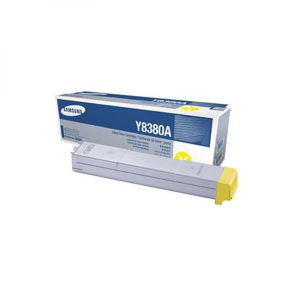 Samsung originální toner CLX-Y8380A, yellow, 15000str., Samsung CLX-8380N, CLX-8380ND