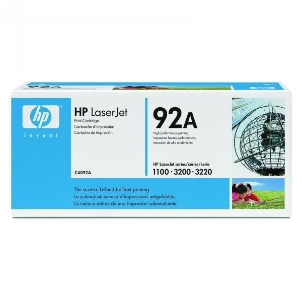 HP originální toner C4092A, black, 2500str., 92A, HP LaserJet 1100, 1100A, 3200