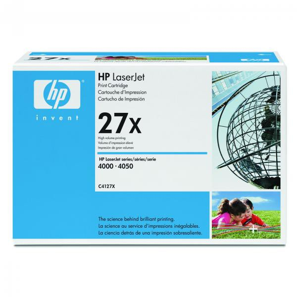 HP originální toner C4127X, black, 10000str., 27X, high capacity, HP LaserJet 4000, N, T, TN, 4050, N, T, TN