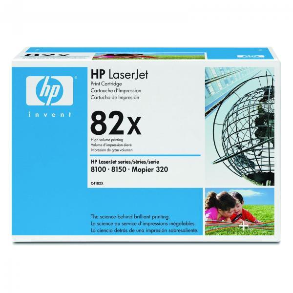 HP originální toner C4182X, black, 20000str., 82X, HP LaserJet 8100, N, DN, 8150, N, DN, MFP