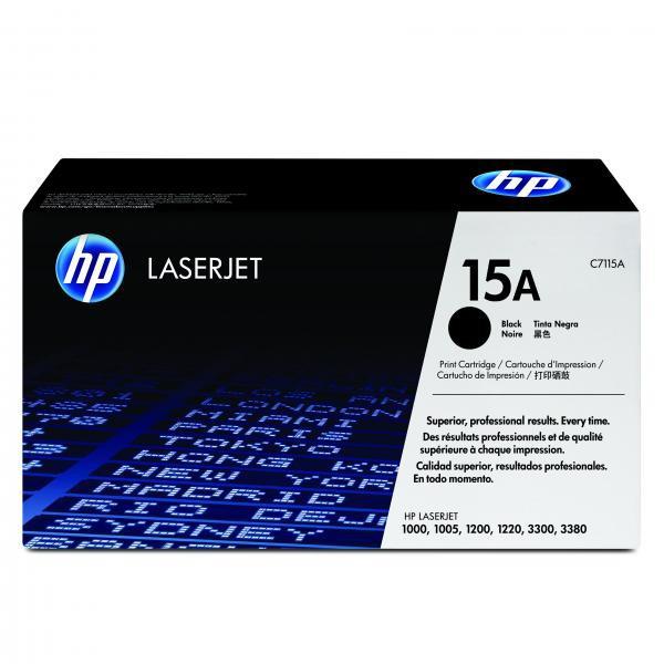HP originální toner C7115A, black, 2500str., 15A, HP LaserJet 1000, 1200, 1200n, 1220, 3300mfp, 3320mfp