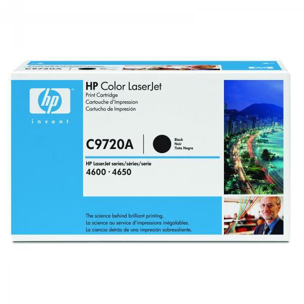 HP originální toner C9720A, black, 9000str., 641A, HP Color LaserJet 4600, N, DN, DTN, HDN, 4650
