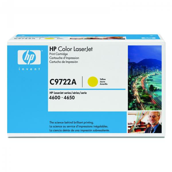 HP originální toner C9722A, yellow, 8000str., HP 641A, HP Color LaserJet 4600, N, DN, DTN, HDN, 4650 HP