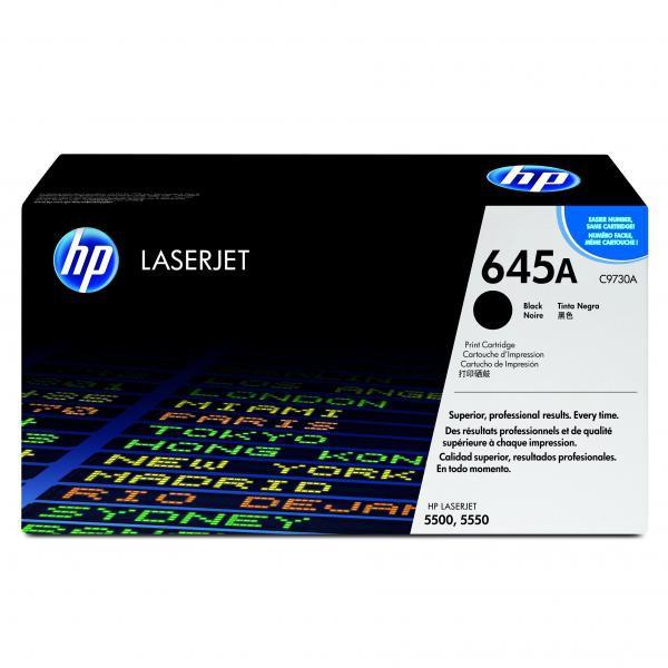 HP originální toner C9730A, black, 13000str., 645A, HP Color LaserJet 5500, N, DN, HDN, DTN
