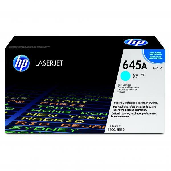 HP originální toner C9731A, cyan, 12000str., 645A, HP Color LaserJet 5500, N, DN, HDN, DTN