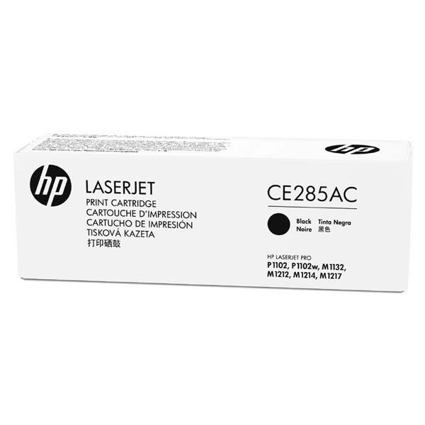 HP originální toner CE285AC, black, 1600str., 85A, HP LaserJet Pro P1102, M1132, M1212, kontraktový produkt