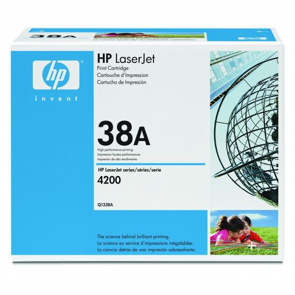HP originální toner Q1338A, black, 12000str., 38A, HP LaserJet 4200, N, TN, DTN, DTNSL