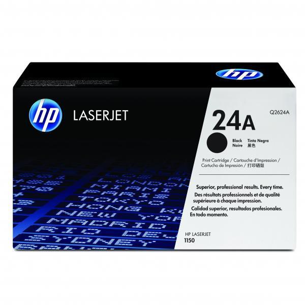 HP originální toner Q2624A, black, 2500str., 24A, HP LaserJet 1150