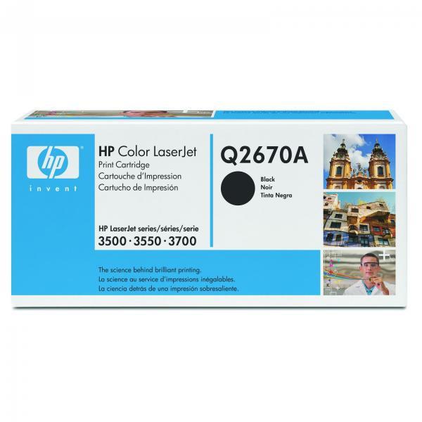 HP originální toner Q2670A, black, 6000str., 308A, HP Color LaserJet 3500, N, 3550, 3700, N, DN, DTN