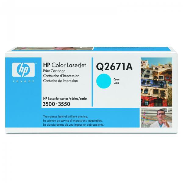 HP originální toner Q2671A, cyan, 4000str., 309A, HP Color LaserJet 3500, N, 3550, N, DN, DTN