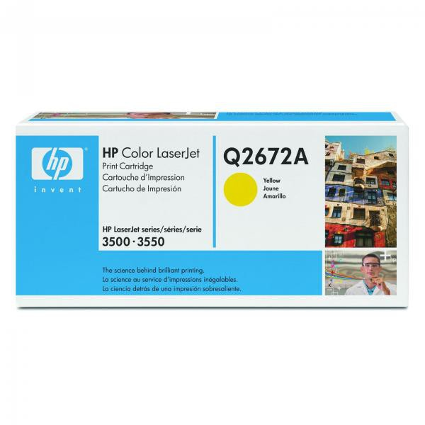 HP originální toner Q2672A, yellow, 4000str., 309A, HP Color LaserJet 3500, N, 3550, N, DN, DTN
