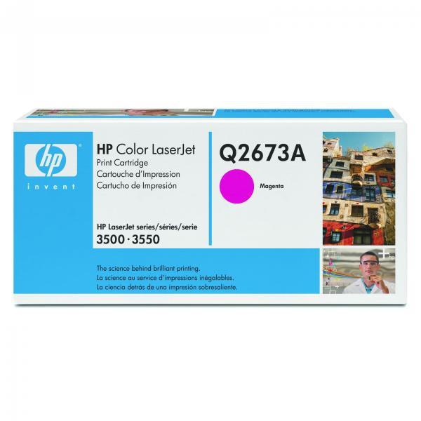 HP originální toner Q2673A, magenta, 4000str., 309A, HP Color LaserJet 3500, N, 3550, N, DN, DTN
