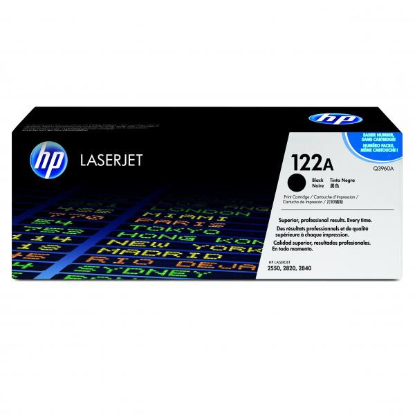 HP originální toner Q3960A, black, 5000str., 122A, HP Color LaserJet 2550, 2820, 2840