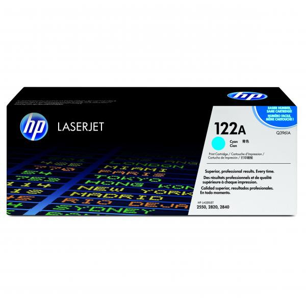 HP originální toner Q3961A, cyan, 4000str., 122A, high capacity, HP Color LaserJet 2550, 2820, 2840