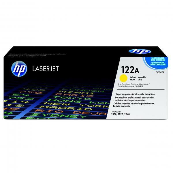 HP originální toner Q3962A, yellow, 4000str., 122A, high capacity, HP Color LaserJet 2550, 2820, 2840