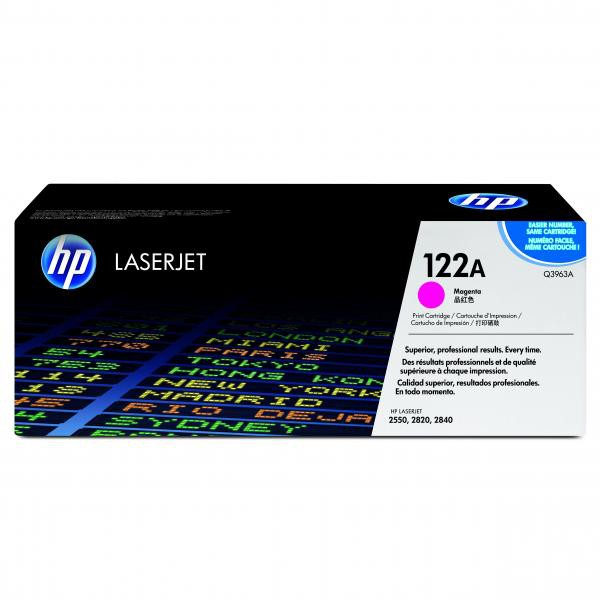 HP originální toner Q3963A, magenta, 4000str., 122A, high capacity, HP Color LaserJet 2550, 2820, 2840