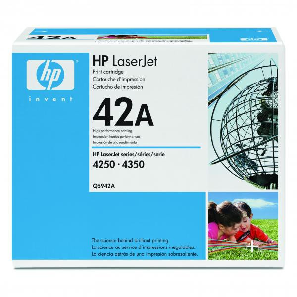 HP originální toner Q5942A, black, 10000str., 42A, HP LaserJet 4250, 4350