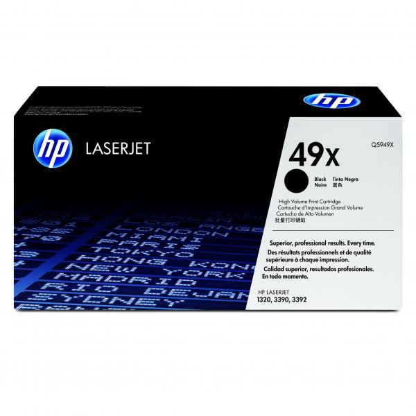 HP originální toner Q5949X, black, 6000str., HP 49X, high capacity, HP LaserJet 1320, 3390, 3392
