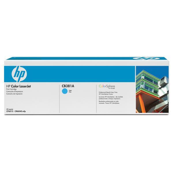 HP originální toner CB381A, cyan, 21000str., HP Color LaserJet CP6015n, dn, xh, CM6030, 6040