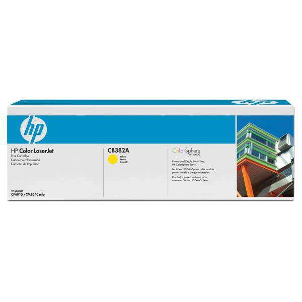 HP originální toner CB382A, yellow, 21000str., HP Color LaserJet CP6015n, dn, xh, CM6030, 6040