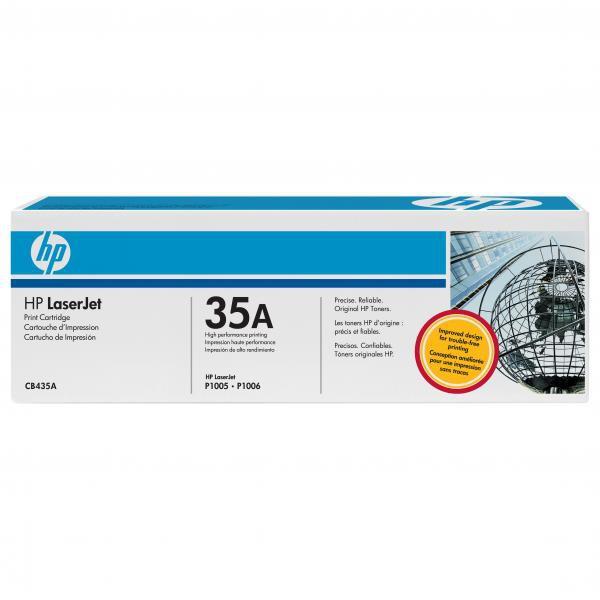 HP originální toner CB435A, black, 1500str., 35A, HP LaserJet P1005, 1006