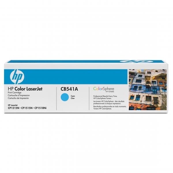 HP originální toner CB541A, cyan, 1400str., 125A, HP Color LaserJet CP1215, 1515, 1518