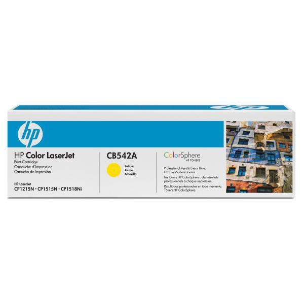 HP originální toner CB542A, yellow, 1400str., 125A, HP Color LaserJet CP1215, 1515, 1518