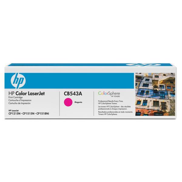 HP originální toner CB543A, magenta, 1400str., 125A, HP Color LaserJet CP1215, 1515, 1518
