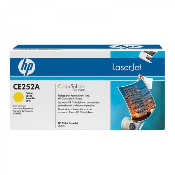 HP originální toner CE252A, HP 504A, yellow, 7000str., HP Color LaserJet CP3525