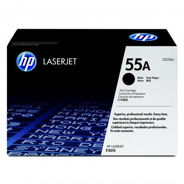 HP originální toner CE255A, black, 6000str., 55A, HP LaserJet P3015