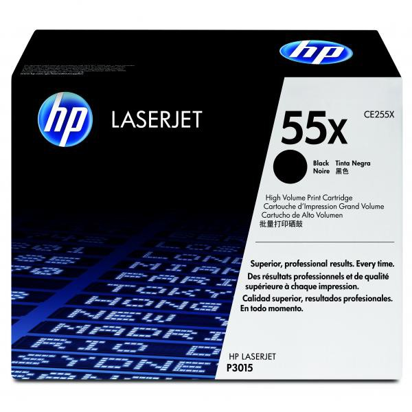 HP originální toner CE255X, black, 12500str., 55X, HP LaserJet P3015