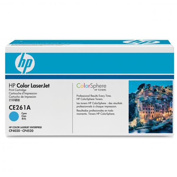 HP originální toner CE261A, cyan, 11000str., 648A, HP Color LaserJet CP4025, CP4525
