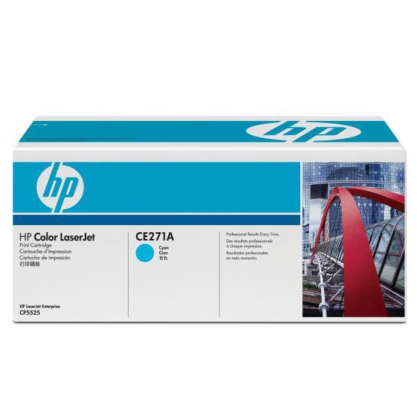 HP originální toner CE271A, cyan, 15000str., 650A, HP LaserJet CP5525n, CP5525dn, CP5525xh