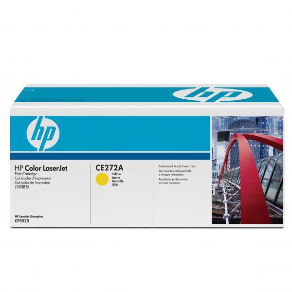 HP originální toner CE272A, yellow, 15000str., 650A, HP LaserJet CP5525n, CP5525dn, CP5525xh